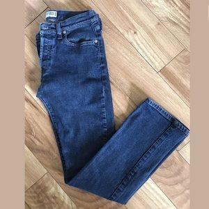 Diesel Medium Wash Straight Leg Button Fly Jeans